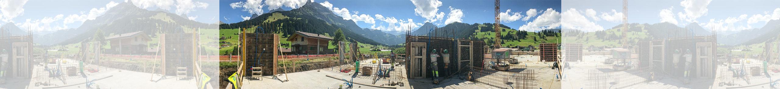Burn und Künzi AG Adelboden – Baustelle im Sommer