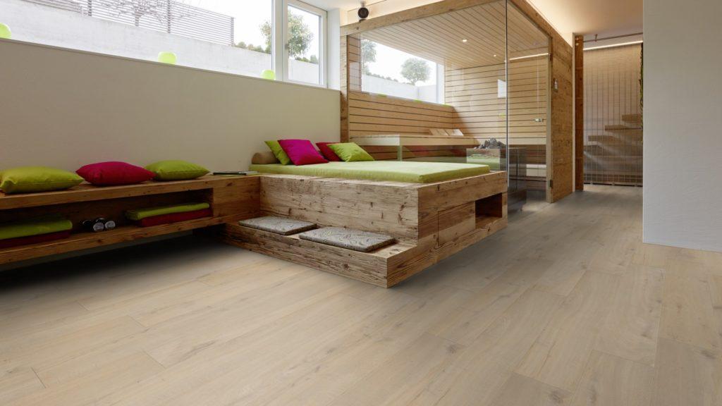 Laminat Küsteneiche Schlafzimmer