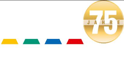 Logo Bauen mit Burn 75 Jahre